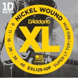 D'Addario snaren elektrisch EXL125 - 10pack