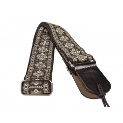 Gaucho gitaarband jacguard weave grey and gold
