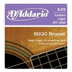 D'Addario snaren Bronze Custom Light EJ13