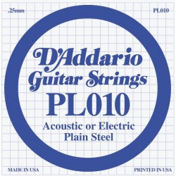 D'Addario losse snaar plain steel 010