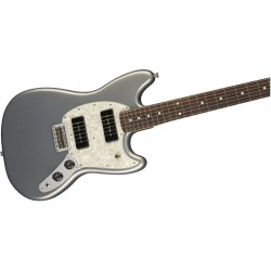 Fender Mustang 90 Pau Ferro Fretboard Silver