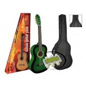 A.martinez gitaar klassiek 80PG green/ sunburst met hoes en stemflluitje