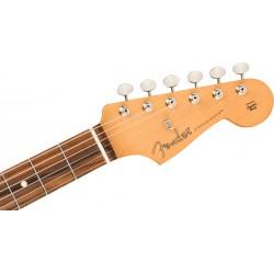Fender Noventa Stratocaster, Pau Ferro Fingerboard, Crimson Red Transparent