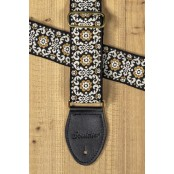 Souldier Guitarstrap Vintage Black White Gold