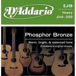 D'Addario snaren Phosphor Bronze Heavy EJ18