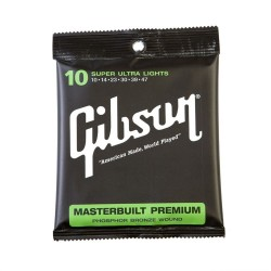 Gibson Masterbuilt Premium Acoustic Strings, Phosphor Bronze (Mediums)