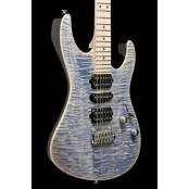 Suhr Modern Pro, Trans Blue Denim/Slate, Maple Fingerboard, Gotoh 510, HSH