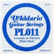 D'Addario losse snaar plain steel 011
