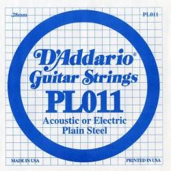 D'Addario losse snaar plain steel 011