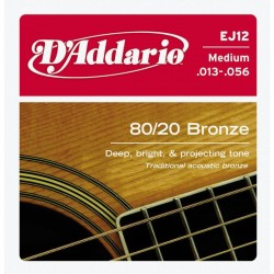 D'Addario snaren bronze EJ12 Medium